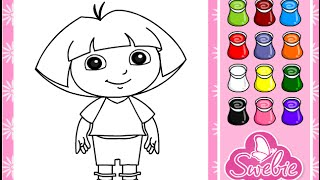 getlinkyoutube.com-Dora The Explorer Coloring Game Play