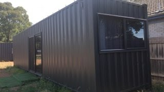 getlinkyoutube.com-40'HC Container Cabin - Container Construction