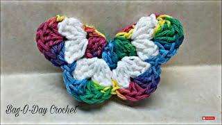 getlinkyoutube.com-CROCHET How To #Crochet Easy 3D Butterfly #TUTORIAL Easy crochet tutorial #136 LEARN CROCHET