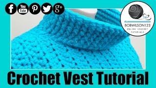 Easy Sweater Vest Crochet Tutorial
