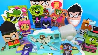 getlinkyoutube.com-2015 TEEN TITANS GO! SET OF 5 WENDY'S KIDS MEAL TOY'S VIDEO REVIEW