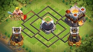 getlinkyoutube.com-Clash Of Clans - TH 11 Hybrid Dark Elixir Base - Bomb Towers&300Walls