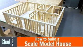 getlinkyoutube.com-DIY Scale Model House Build