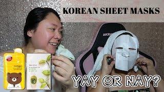 KOREAN SHEET MASKS SA KUTIS PINAY FEATURING MY MOM | innisfree & Horec