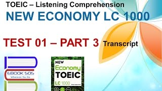 getlinkyoutube.com-[TOEIC] - Listening Comprehension - NEW ECONOMY - TEST 1 | PART 3 (Transcript)