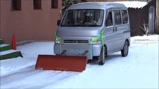 getlinkyoutube.com-軽トラ 軽自動車 除雪機 スノープラウ 志賀高原に初雪 行ってみた