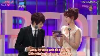 getlinkyoutube.com-[VIETSUB] [30.12.2012] MBC Drama Awards - Yoochun Best Actor Award (JaeJoong presented)