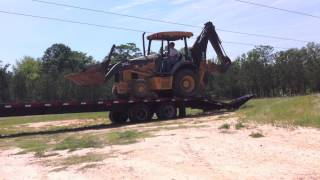 getlinkyoutube.com-Loading the Backhoe..... Almost didn't go so Well!!!
