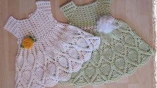 getlinkyoutube.com-Crochet dress| How to crochet an easy shell stitch baby / girl's dress for beginners 9