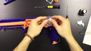 getlinkyoutube.com-Unleashed Solid Final Stage Installation for Nerf Rampage by Orange Mod Works