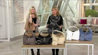 getlinkyoutube.com-Dooney & Bourke Leather Hobo with Logo Lock and Accessories on QVC