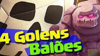 getlinkyoutube.com-NOVIDADE 4 GOLENS COM BALÕES - ESTRATEGIAS DE GUERRA 3 ESTRELAS CLASH OF CLANS