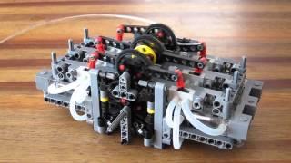 getlinkyoutube.com-Lego Pneumatic Engine - 6 cylinder boxer MK. II