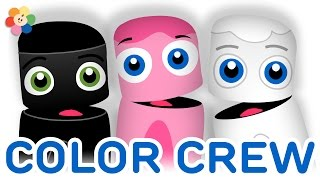 getlinkyoutube.com-Color Collection 3: Black, Pink, White | Learning Colors Lesson for Kids | Color Crew | BabyFirst