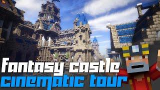 getlinkyoutube.com-Minecraft Xbox 360: Massive Fantasy Castle Cinematic + Tour + Download!
