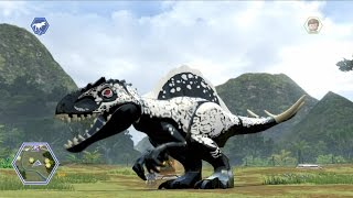 getlinkyoutube.com-LEGO Jurassic World - Customize | Create Dinosaur Indominus Rex | Free Roam Gameplay [HD]