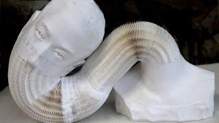 getlinkyoutube.com-Живые скульптуры из бумаги