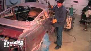 getlinkyoutube.com-1966 Coupe to fastback conversion - welding on the new roof!