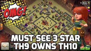 getlinkyoutube.com-Clash of Clans: OMG! MUST SEE INSANE TH9 3 STAR ON TH10!!! ALMOST FULLY MAXED | Mister Clash Gaming