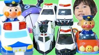 アンパンマン トミカ パトカー大集合♪ わくわく冒険ドライブ はたらくくるま Tomica and Anpanman Mini Cars Patrol Cars Toys Review