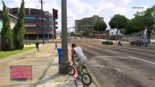 getlinkyoutube.com-GTA V | !! فصلات قراند 5 بالسيكل ههههه