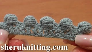 getlinkyoutube.com-Work Puffy Bullion Block Stitch Crochet Tutorial 40 Part 3 of 7 Great Trimming Idea