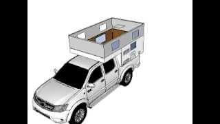 getlinkyoutube.com-Truck Camper Europe  Toyota Hilux + Celula Completa