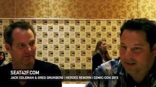 getlinkyoutube.com-Jack Coleman & Greg Grunberg HEROES REBORN Comic Con 2015 Interview