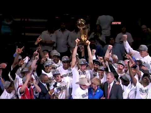 2011 NBA Finals Champions: Dallas Mavericks - Larry O'Brien Trophy Presentation