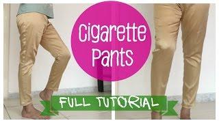 getlinkyoutube.com-Cigarette pants- Pattern, Cutting and Stitching