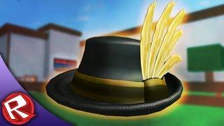 getlinkyoutube.com-Golden Feather Fedora | ROBLOX High School (ROBLOX Event)