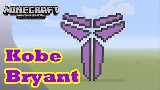 Minecraft: Pixel Art Tutorial and Showcase: Kobe Bryant Logo