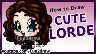 getlinkyoutube.com-Art Lessons - Learn to Draw Lorde - How to Draw People + Celebrities - Fun2draw Chibi Girl