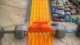 "getlinkyoutube.com-HOT WHEELS DRAG RACING ""KING OF THE HILL"" 7-2014 RACE"