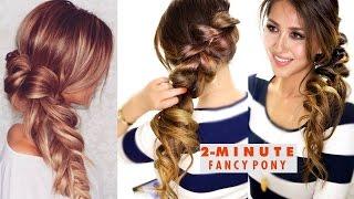 getlinkyoutube.com-2-MINUTE Fancy Pony-Braid Hairstyle ★ Easy SCHOOL HAIRSTYLES