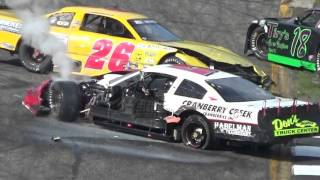 getlinkyoutube.com-2015 Dells Falloween 150 Qualifying Race Crash