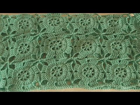 Como Unir Grannys en Crochet parte 1