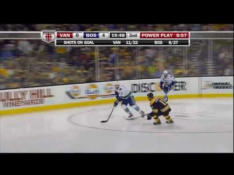 Henrik Sedin Goal - Canucks at Bruins - R4G6 2011 Playoffs - 06.13.11 - HD