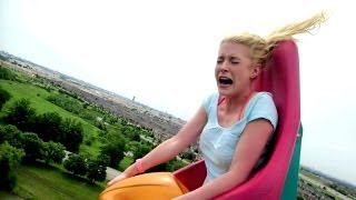 getlinkyoutube.com-BLONDE GIRL HILARIOUS ROLLER COASTER REACTION!!
