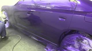 getlinkyoutube.com-Dodge Charger Purple Paint Job (Raw Un-Edited)