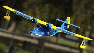 getlinkyoutube.com-New Dynam Catalina Twin Engine Sea Plane Blue Version