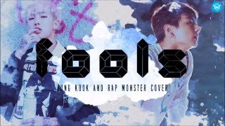 getlinkyoutube.com-Fools  cover by Rap Monster and Jung Kook (Lyrics)