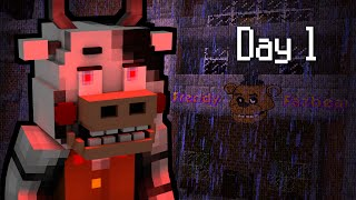 getlinkyoutube.com-MINE Nights at Freddy's 2 - FACTORY | Day 1 | FNAF Minecraft Roleplay