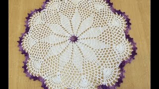 getlinkyoutube.com-Tuto nappe, tapis facile au crochet