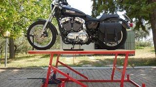 ponte alzamoto fai da te (homemade motorcycle lift table)