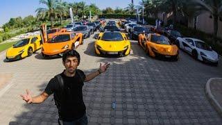 50 McLaren Road trip to the most expensive garage - رحلة خمسين مكلارن الى اغلى كراج في الامارات