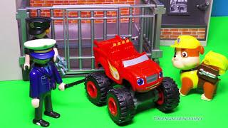 getlinkyoutube.com-BLAZE AND THE MONSTER MACHINES Nickelodeon Blaze Goes to Jail a Blaze Toys Video Parody