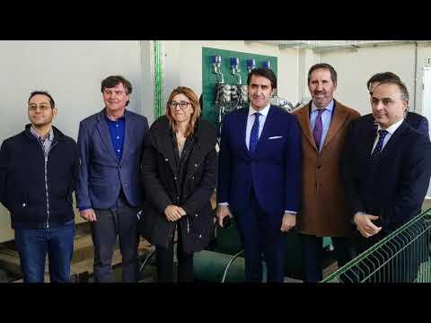 REBI SLU: La alcaldesa de Aranda Raquel González en la inauguración de la Red de Calor de su municipio