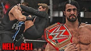 getlinkyoutube.com-WWE Hell In A Cell 2016  - Kevin Owens vs Seth Rollins, Rollins Wins WWE Universal Title - WWE 2K17