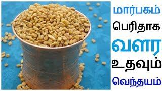 வெந்தயத்தை கொண்டு மார்பகங்களை பெரிதாக்க | Marbagam Perithaga Valara Tamil Tips